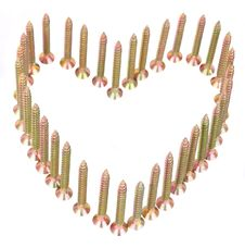 Heart Of Screws Royalty Free Stock Photography