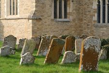 Free Old Leaning Gravestones In A Churchyard. Royalty Free Stock Image - 18838766
