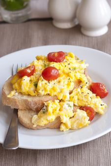 Free Eggs On Toast Royalty Free Stock Photography - 18839247