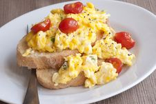 Free Eggs On Toast Royalty Free Stock Photography - 18839267
