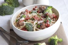 Free Spaghetti With Meatballs Royalty Free Stock Photo - 18839315