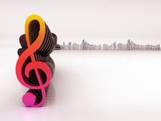 Free 3d Musical Notes And Equalizer Stock Image - 18839351