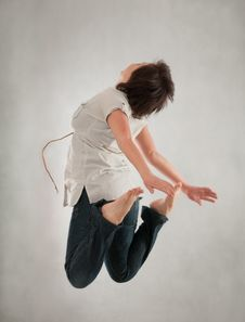 Free Girl Jumping Royalty Free Stock Image - 18839666