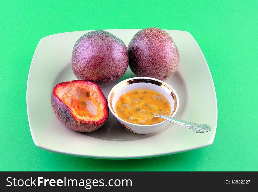 Passion fruit is ripe
