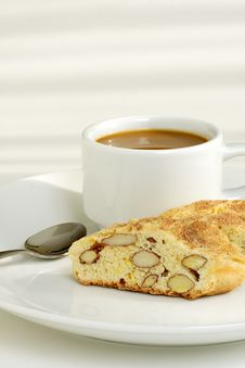 Free Biscotti And Coffee Royalty Free Stock Image - 18840276