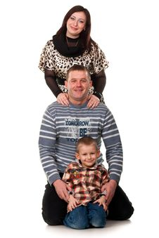 Free Portrait Of A Young Happy Smiling Family Royalty Free Stock Photography - 18840627