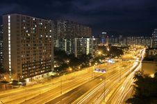 Free Hong Kong Night Scene With Traffic Light Stock Photos - 18842593