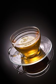 Free Tea With Lemon In Glass Cup Stock Image - 18842901