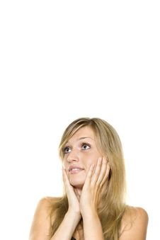 Young Woman Looking Surprised Royalty Free Stock Photo