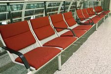 Free Airport Seats Royalty Free Stock Photography - 18843397