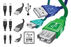 Free Usb Connector Set Royalty Free Stock Photos - 18844218