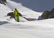 Ski Tour Royalty Free Stock Photography