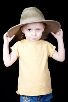 Free Cute Safari Girl Royalty Free Stock Images - 18844689