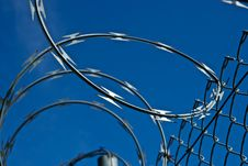 Free Razor Wire Says, Royalty Free Stock Image - 18845476