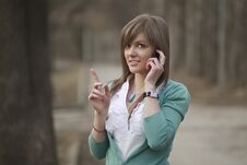Free Business Woman Talking On Phone Stock Image - 18845711