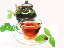 Free Fruit Raspberry Red Tea With Currant Extract Stock Photography - 18845752