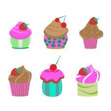 Cupcake Set Stock Photo