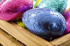 Free Colorful Easter Eggs On White Background Royalty Free Stock Photo - 18846755