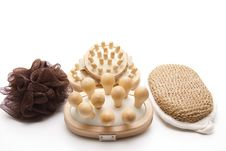 Free Different Massage Brushes Royalty Free Stock Image - 18847336