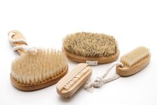 Free Massage Brushes With Bristles Stock Photo - 18847380