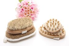 Free Massage Brush And Sponge Royalty Free Stock Image - 18847746