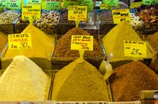 Free Colorful Display Of Spices In Spice Bazaar Stock Images - 18847764
