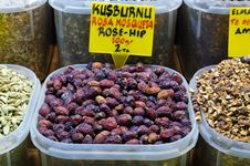 Free Rosehip Tea In Egyptian Spice Bazaar Stock Photo - 18847800