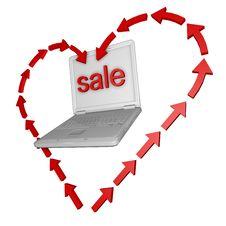 Free 3d PC Sale Royalty Free Stock Photo - 18848045