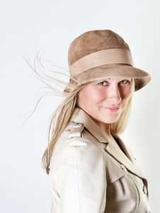 Free Portrait Of A Girl In A Leather Coat Royalty Free Stock Photo - 18848465