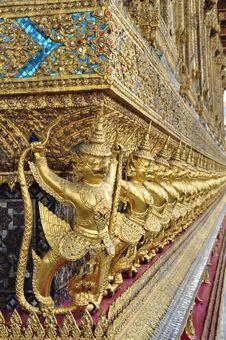 Golden Garuda In Grand Palace Bangkok Of Thailand Stock Image