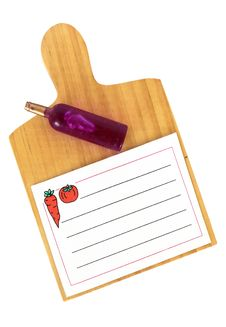 Kitchen Clip Board And Papers Stock Photo