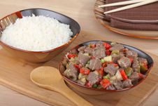 Sweet And Sour Beef Royalty Free Stock Photos
