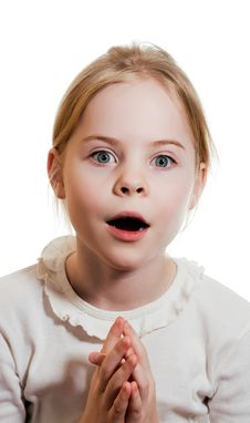 Free Little Girl Expressing Amazement Stock Photography - 18849852