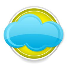 Free Blue Cloud Icon Stock Image - 18849921