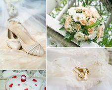 Free Wedding Collage Royalty Free Stock Photography - 18849967
