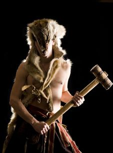 Free Man In Wolf Skin Royalty Free Stock Photos - 18849998