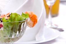 Free Salad With Shrimps Stock Images - 18850244