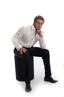 Free Casual Looking Male Business Type Wearing Shirt Stock Images - 18850294