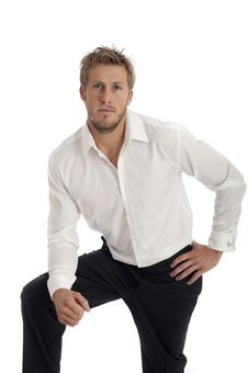 Free Casual Looking Male Business Type Wearing Shirt Royalty Free Stock Photos - 18850338