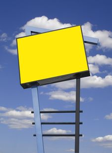 Free Storefront Sign In Yellow, Isolated Royalty Free Stock Photos - 18850358