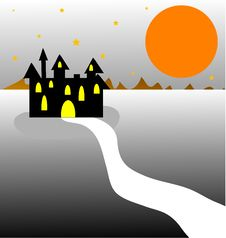 Free Dark Castle Stock Photography - 18850482
