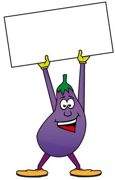 Free Happy Eggplant Stock Photos - 18850553
