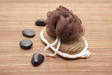 Free Massage Sponge And Stones Stock Photo - 18850680