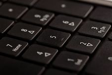 Black Notebook Keyboard, Numeric Part Stock Images