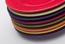 Free Ceramic Plates Royalty Free Stock Photos - 18850838