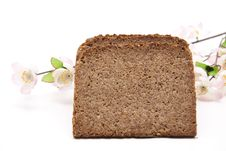 Free Wholemeal Bread With Flowers Stock Photography - 18851222