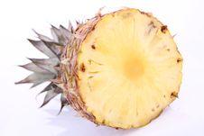 Half Of A Pineapple Stock Photo