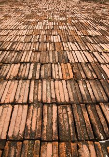 Free Pattern Of Brick Floor Stock Image - 18852581