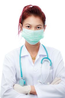 Female Doctor And Mask Royalty Free Stock Photography