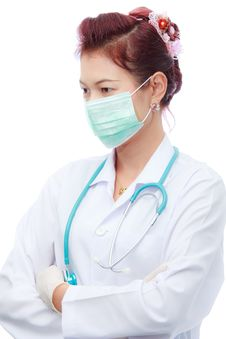 Free Female Doctor And Mask Stock Image - 18853501